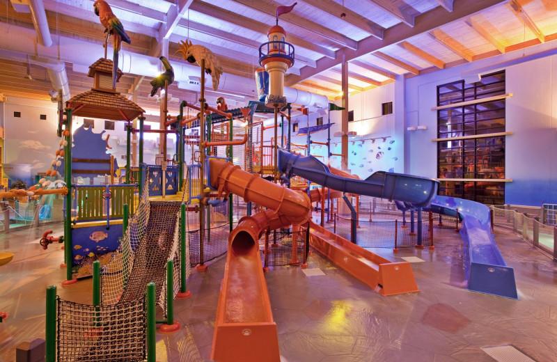 Indoor waterpark at CoCo Key Water Resort- Sheraton Kansas City Sports Complex.