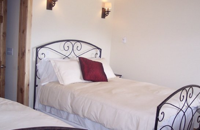 Double bed view at Majestic Valley Lodge.