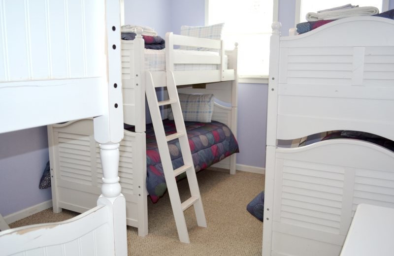Vacation rental bunk beds at Bella Beach Property Management.