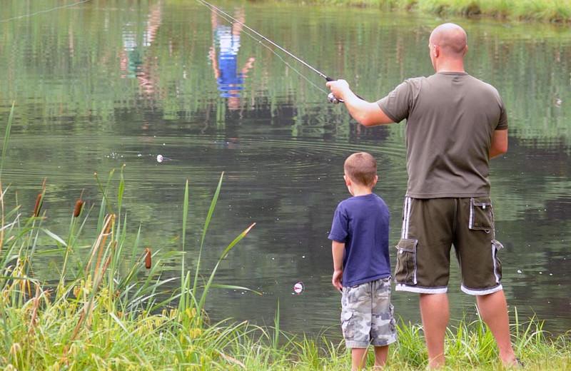 Fishing at Lake George RV Park.
