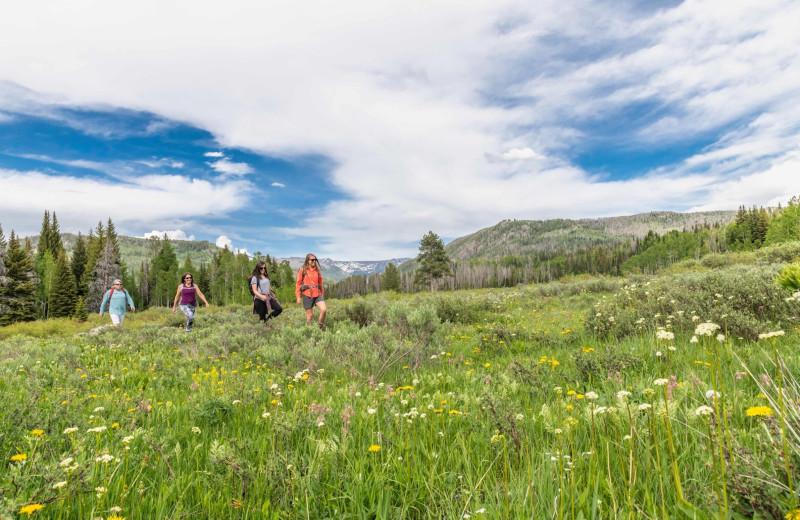Hiking at Vista Verde Ranch.
