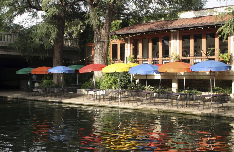 Patio near Best Western Plus Sunset Suites Riverwalk.