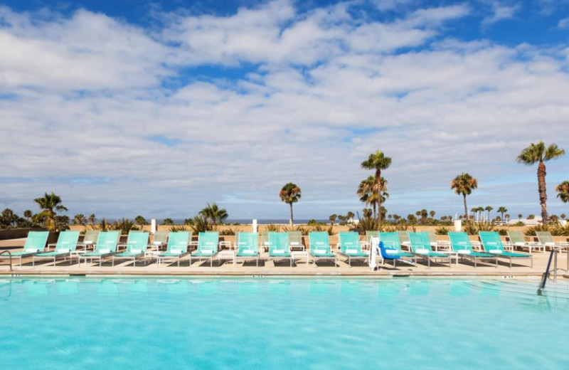 Outdoor pool at Crowne Plaza-Redondo Beach.