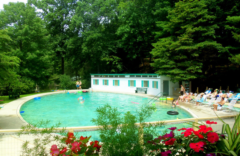 Outdoor pool at Capon Springs.