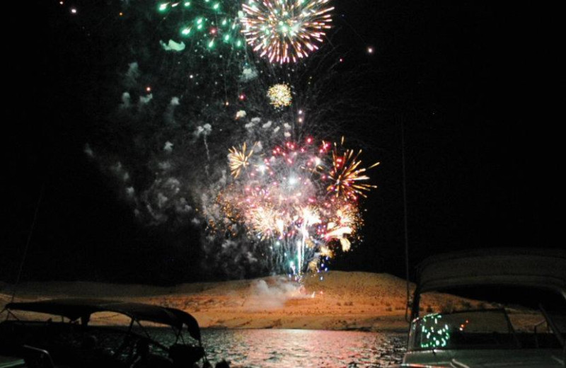 4th of July fireworks at Antelope Point.