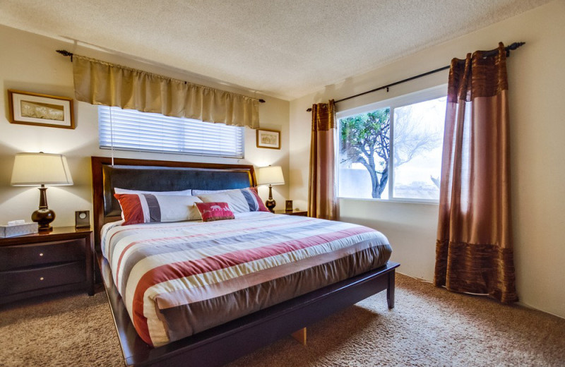 Rental bedroom at Cal Vacation Homes.