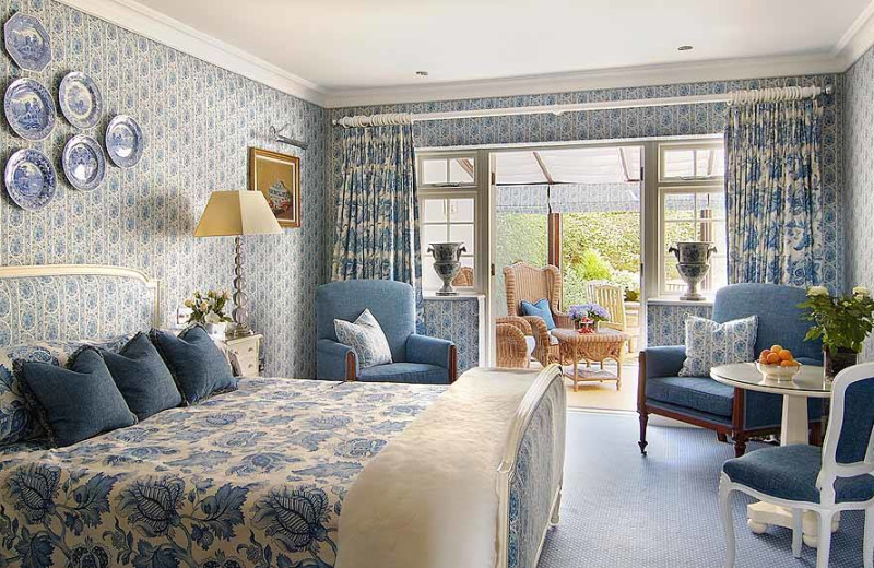 Guest room at Summer Lodge Country House Hotel.