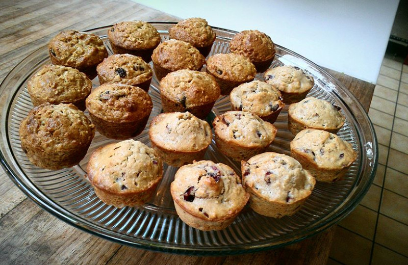 Muffins at Batcheller Mansion Inn Bed and Breakfast.