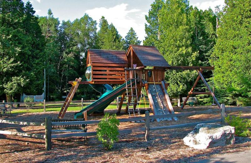 Outdoor Playground at Baileys Harbor Resort