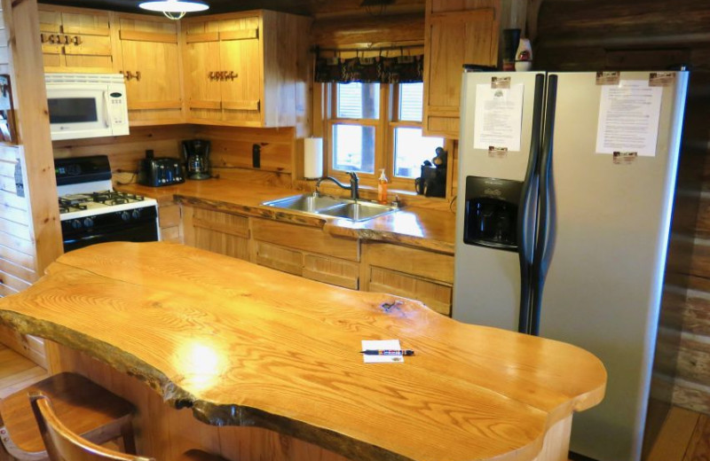 Guest kitchen at Sleeping Bear Resort.
