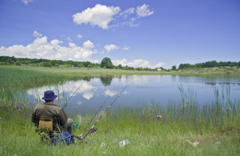 Fishing at YD Guest Ranch.