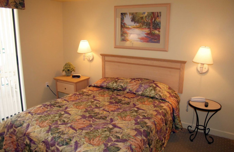 Unit bedroom at Vistas on the Gulf.