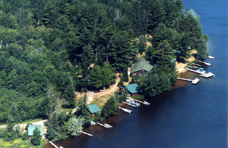 Aerial view of Northland Lodge.