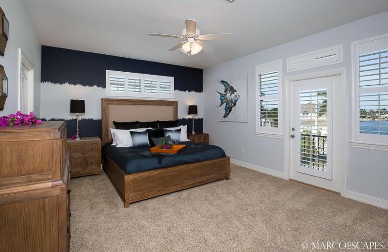 Rental bedroom at Marco Escapes.