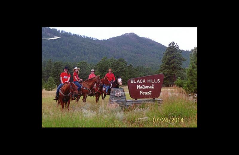 Horseback riding at Triple R Ranch.