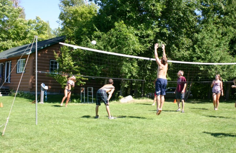 Volleyball game at Timber Trails Resort.
