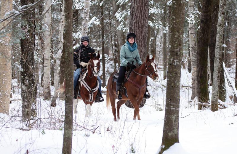 Horseback riding at Sir Sam's Inn & Spa.