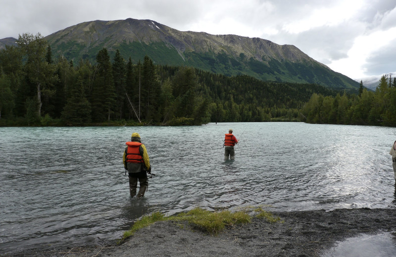 Fishing at Gwin's Lodge & Kenai Peninsula Charter Booking Service.
