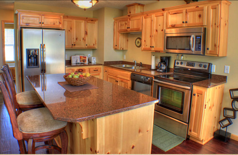 Cabin kitchen at Big Sandy Lodge & Resort.