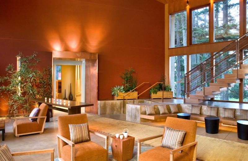Resort lobby at Cavallo Point Lodge.