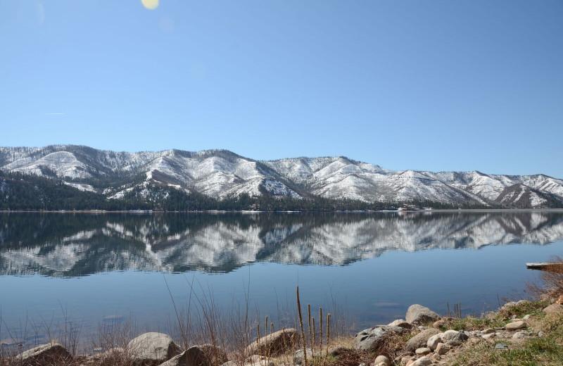 Lake view at Pine River Lodge.