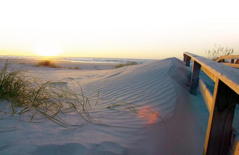 Beach near Carolina Beach Inn.