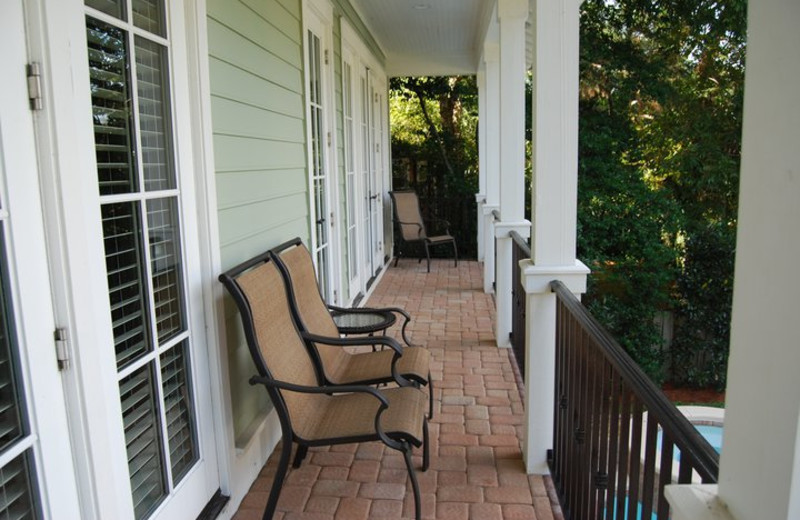 Vacation Rental Porch at Beachside Getaway