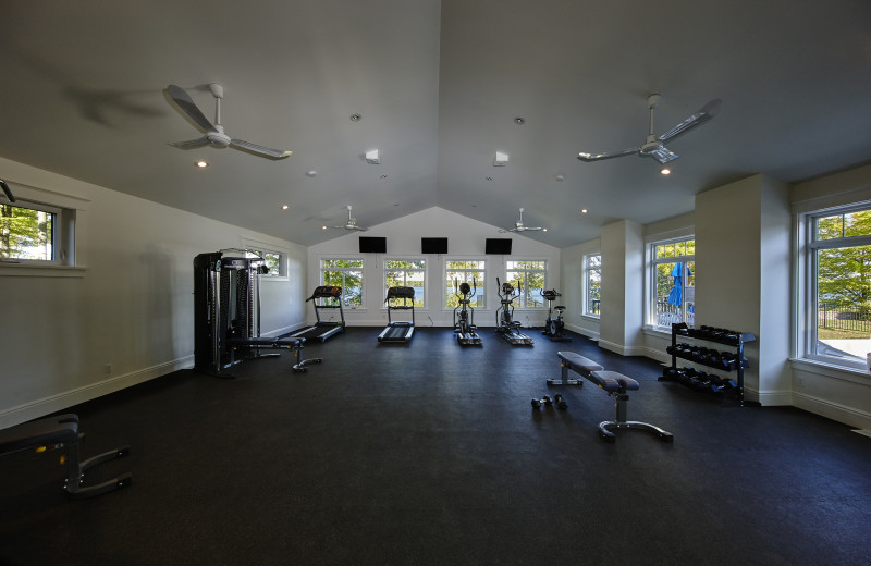 Fitness room at Sandbanks Summer Village Cottage Resort.