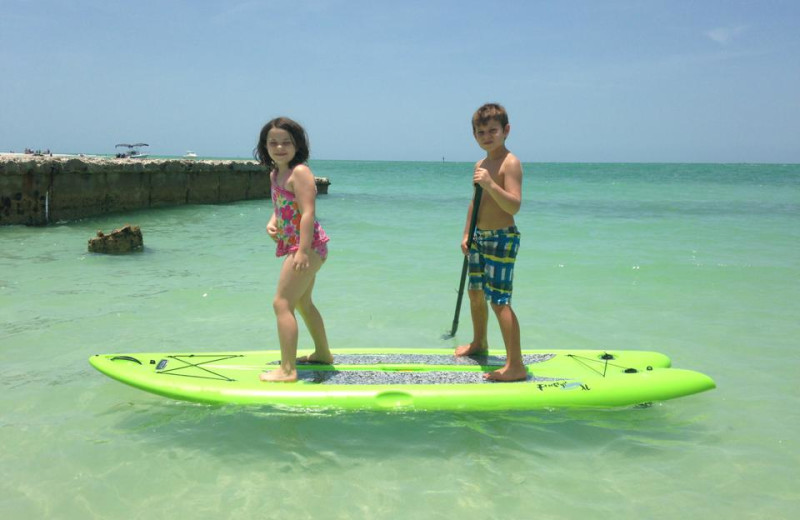 Kids on beach at Sunset Beach Resort.