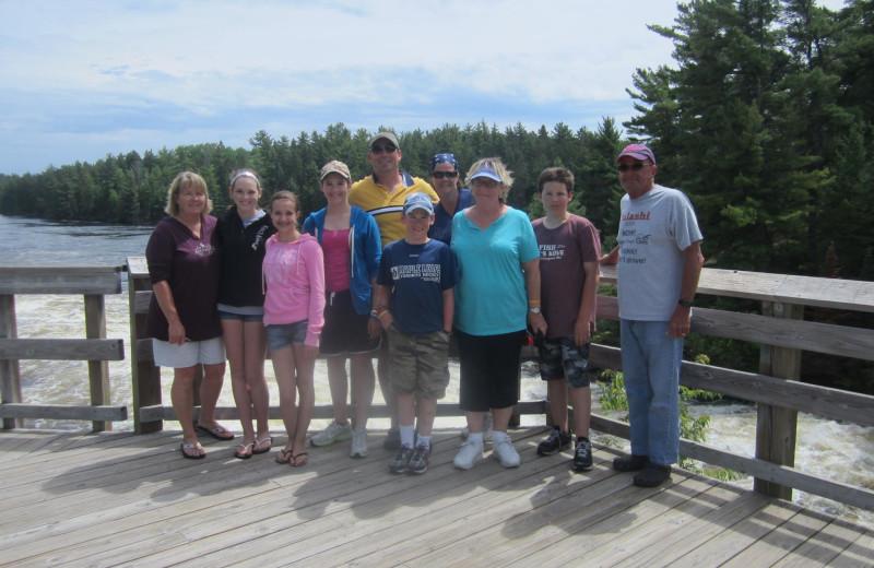 Family reunion at Kec's Kove Resort.