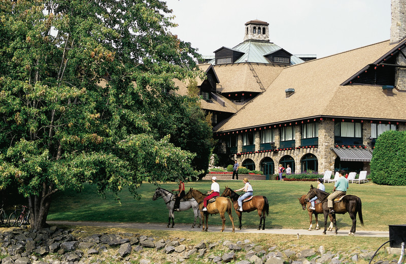 Horseback riding at Fairmont Le Chateau Montebello.