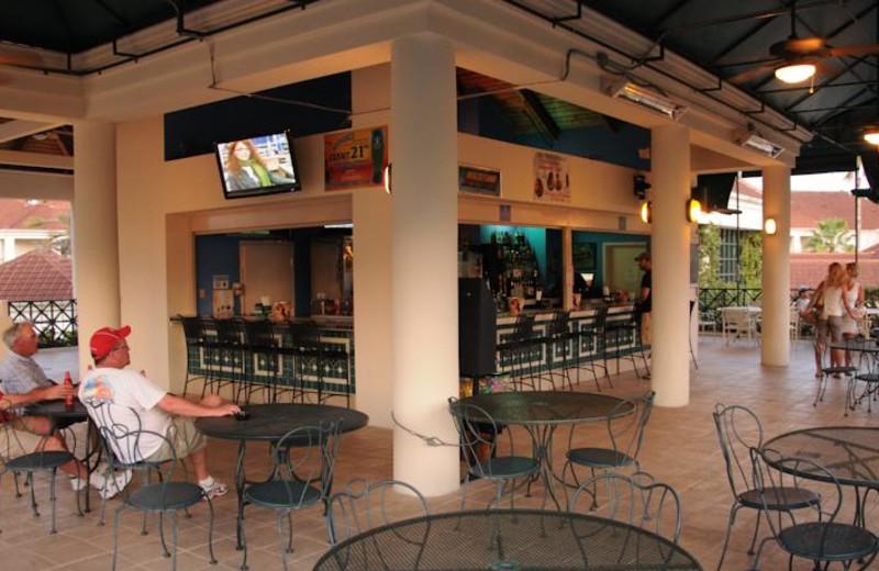 Patio view at Star Island Resort.