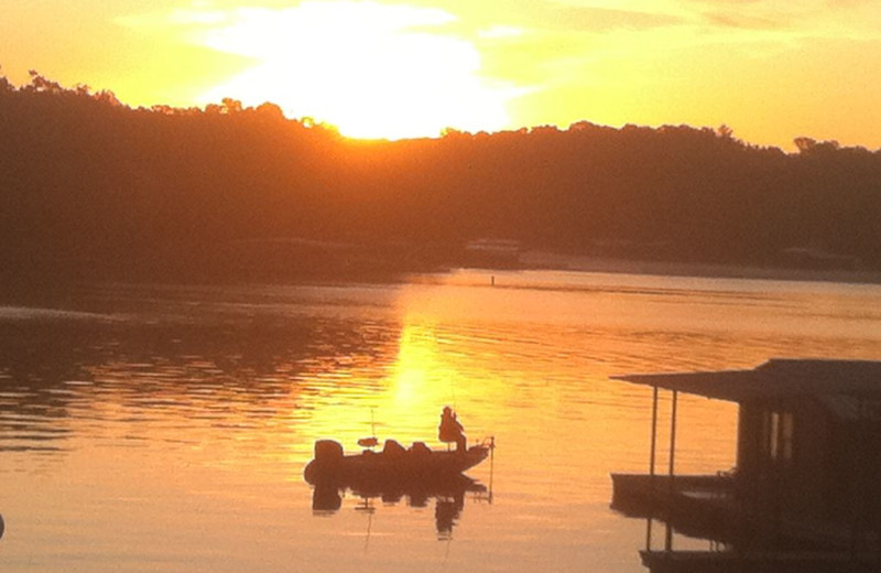 Beautiful sunset at Lakeview Resort.