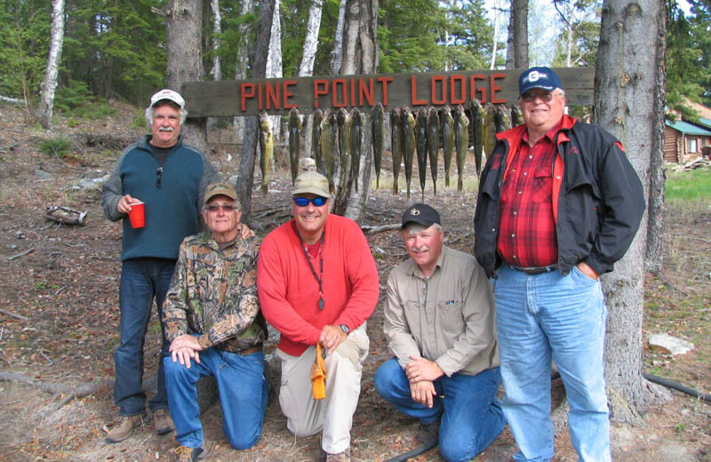 Fishing at Pine Point Lodge and Outposts.