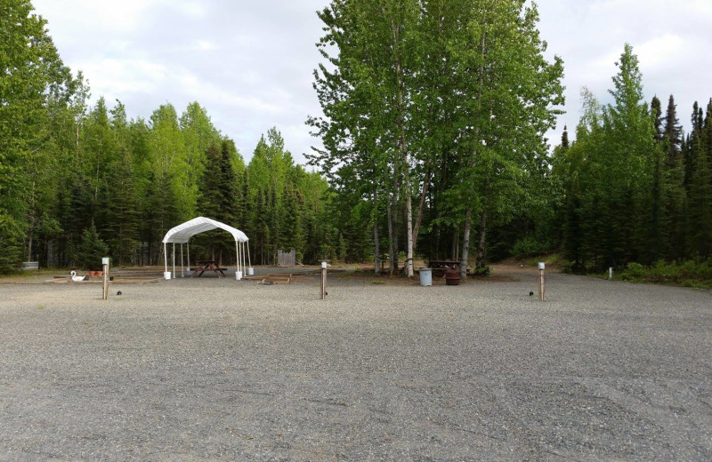 Campgrounds at St. Theresa's Lakeside Resort.