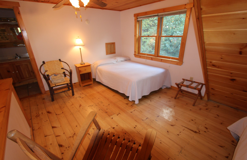 Guest bedroom at The Birches Resort.