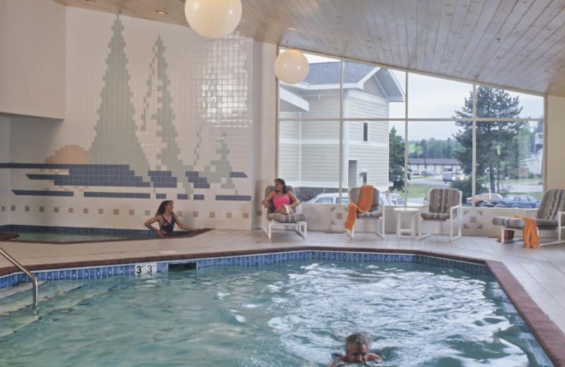 Indoor pool at Grand Marais Hotel Company.