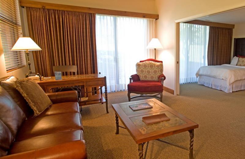 Guest living room at The Lodge at Ventana Canyon.