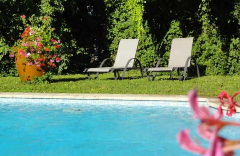 Outdoor pool at Hostellerie Sarrasine.