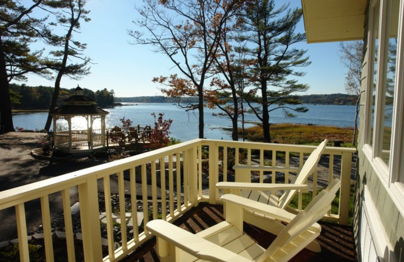 View from Sheepscot Harbour Village & Resort.