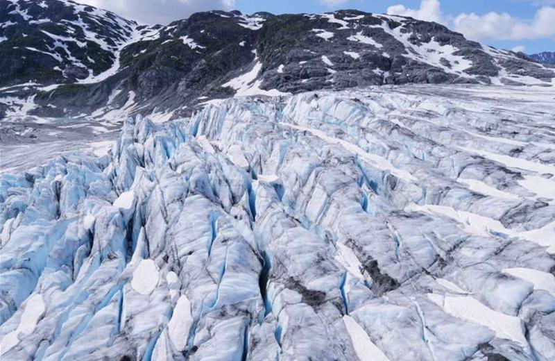 Alaskan glaciers at Gone Fishin' Lodge.