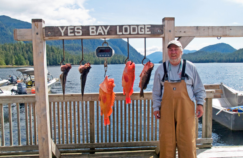 Fishing at Yes Bay Lodge.