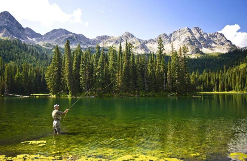 Fishing at Island Lake Lodge.