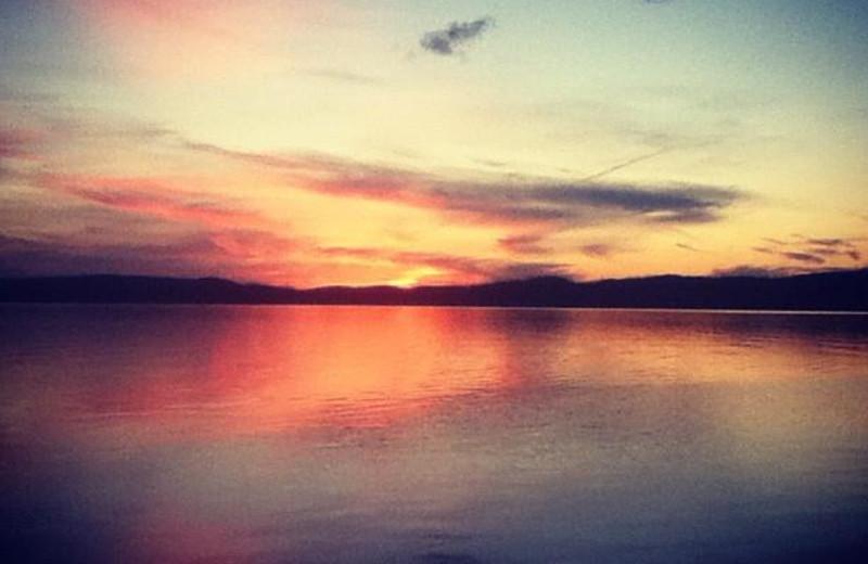 Beautiful lake view at Heston's Lodge.