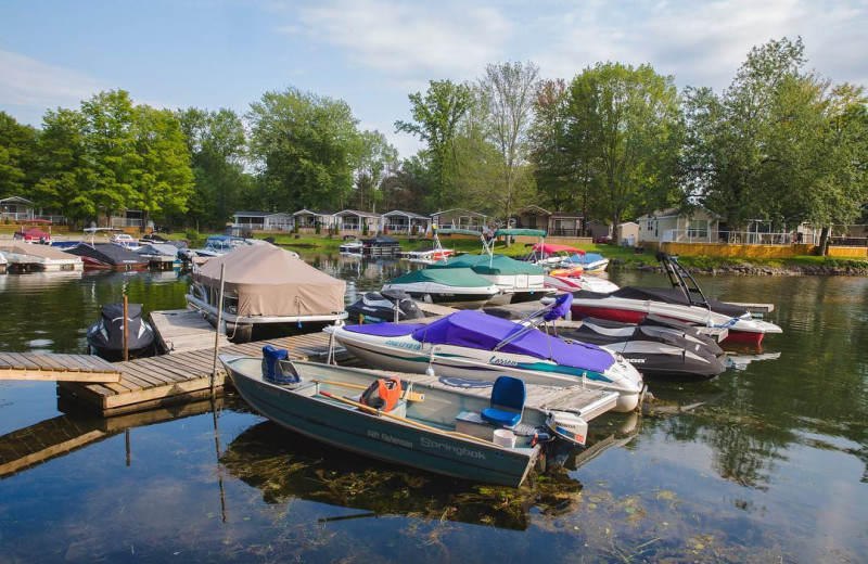 Docks at Great Blue Resorts- Shamrock Bay Resort.
