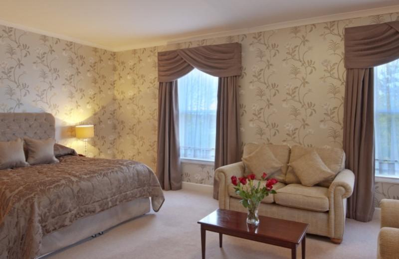 Guest room at Garvock House.