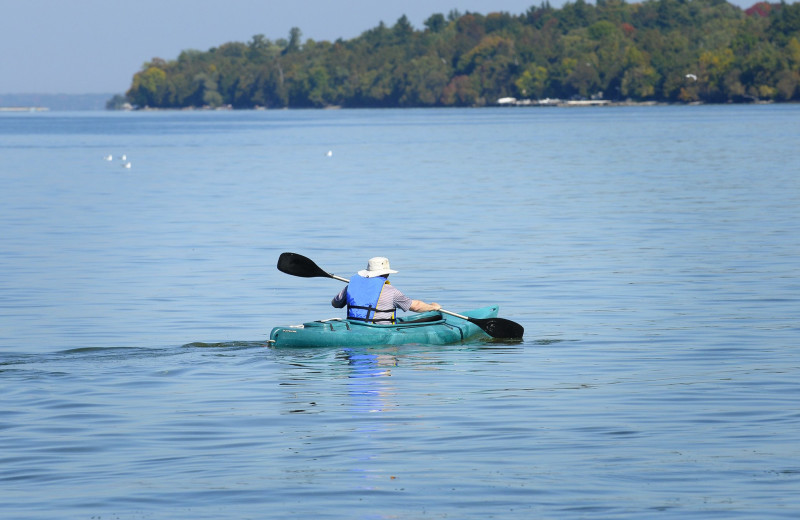 Kayaking at The Briars.