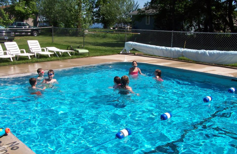 Outdoor pool at Shady Grove Resort.