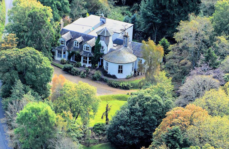 Exterior view of Glendruidh House Hotel.