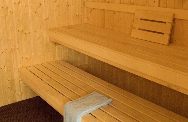 Sauna at Beacon Pointe Resort.